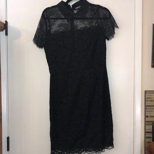 Karl Lagerfeld Black Lace Dress Sz 6